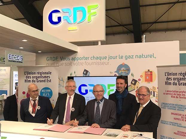 Signature de convention Union Régionale des Organismes HLM de la région Grand Est - GRDF