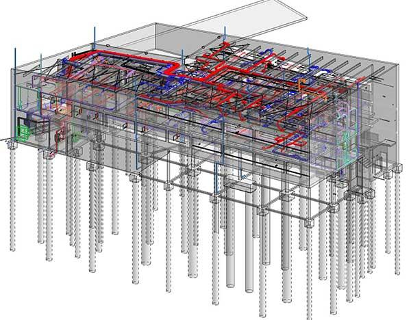 Plan du campus de Charleville (08) réalisé en BIM avec un logiciel BIM Revit
