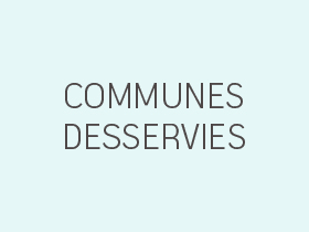 Communes desservies
