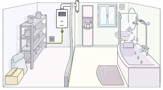 Chaudière à tirage naturel déportée dans le cellier | GRDF