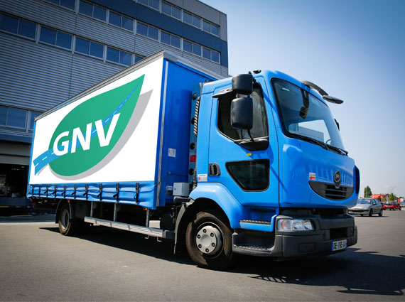 Camion de transport au GNV