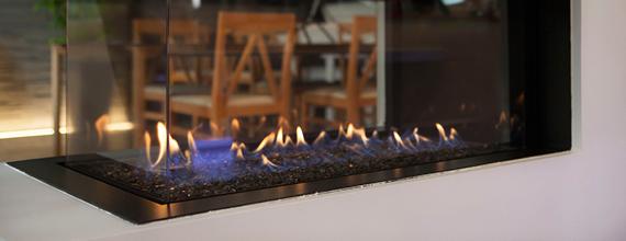 cheminée gaz pour illustration salon interclima