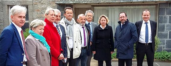 Inauguration de l'arrivée du gaz naturel à Cléder
