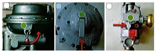 Figure 4: Exemples de manœuvre intégré au détendeur